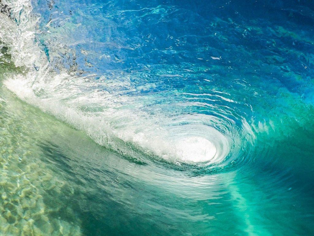 beach, wave, ocean