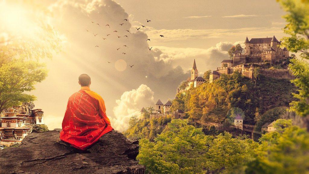 meditation, buddhism, monk