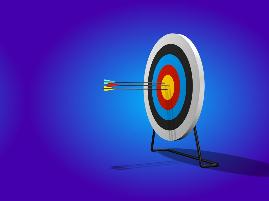 arrows, target, range